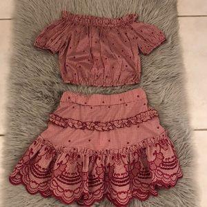 Alexis Rafaella skirt and Ellis crop top